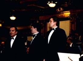 Denis Matrosov on a stage Musikverein